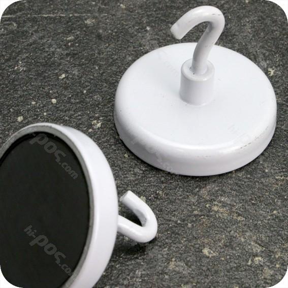Феритен магнит с диаметър 40 mm и отворена кука - до 15 кг.