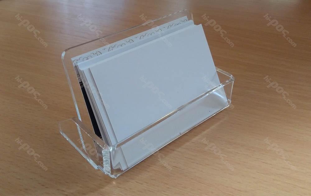 Плексигласова поставка за хоризонтални визитки