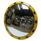 Индустриално охранително огледало с жълто/черна рамка