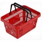Червена кошница за пазаруване
