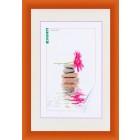 PVC фото рамка с профил в оранжев цвят