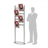 Двустранен стелаж за брошури формат А4 - 8 позиции