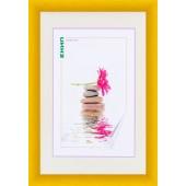PVC фото рамка с профил в жълт цвят