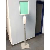 Стойка за автоматичен дозатор за дезинфектант с рамка A3