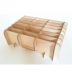 Дървена поставка - органайзер за съхранение на телефони