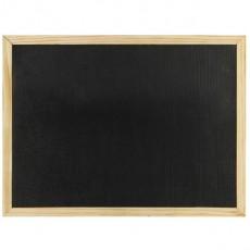 Дървена рамка с черна дъска 30х40 cm