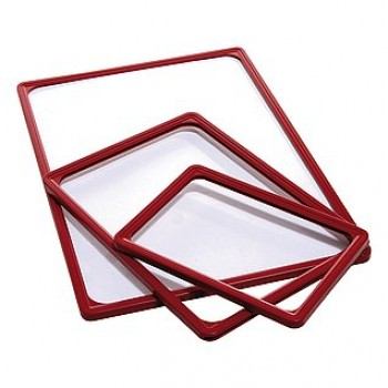 Пакет 10 бр. червена PVC рамка